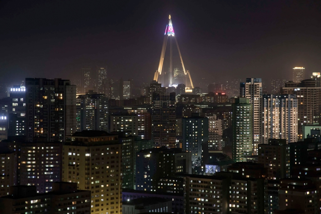 Ausencia de rotulación en Pyongyang
